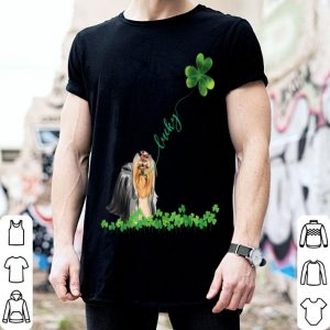 Nice Lucky Yorkie Dog Shamrock St Patrick Day For Women shirt