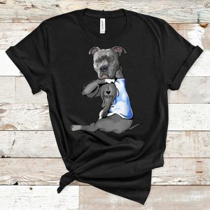 Nice Pit Bull Dog Tattoo I Love Mom Mother's Day And Dog Lovers shirt