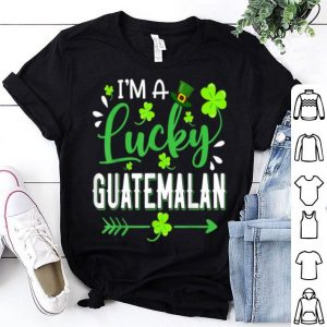 Official I'm A Lucky Guatemalan Shamrock Top Hat St Patrick's Day shirt