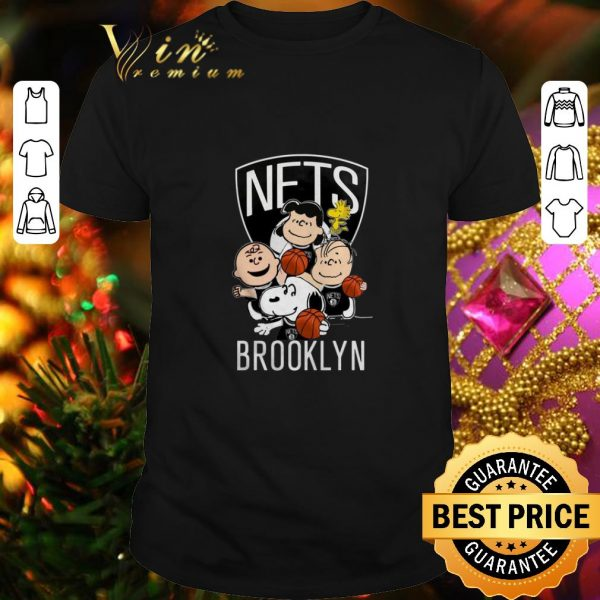 Official Peanut characters mashup Brooklyn Nets shirt