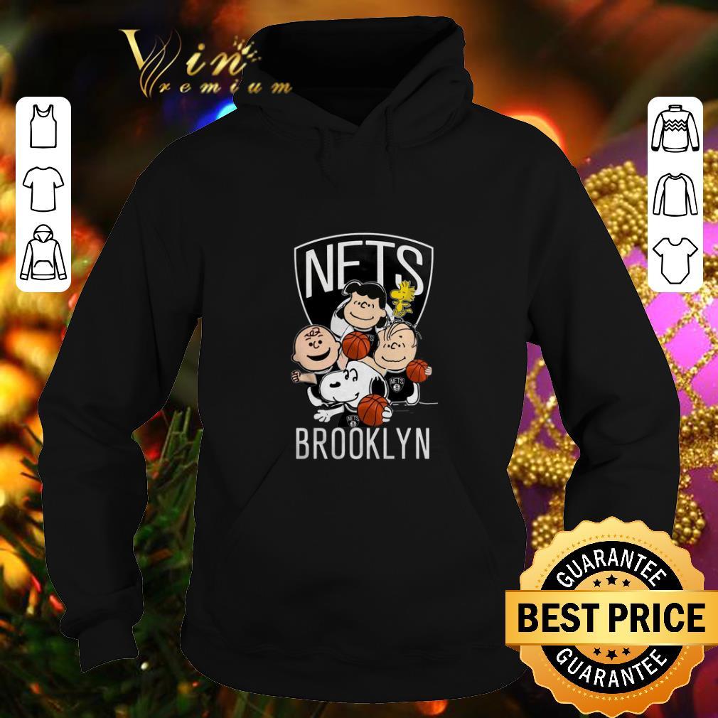 Official Peanut characters mashup Brooklyn Nets shirt 4 - Official Peanut characters mashup Brooklyn Nets shirt
