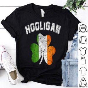 Premium Hooligan St Patricks Day Irish Shamrock Flag shirt