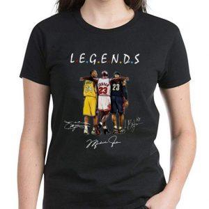 Premium Kobe Bryant Michael Jordan and LeBron James Legends Friends Signatures shirt 2