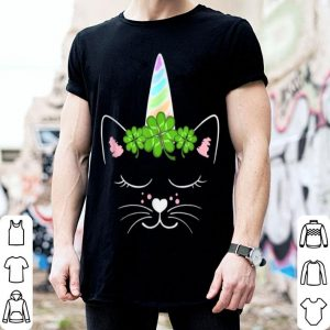 Awesome Caticorn St Patricks Day Cat Unicorn Tee Girls shirt