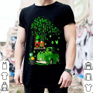 Awesome Happy Saint Patrick's Day Green Gnomes Truck Shamrock shirt