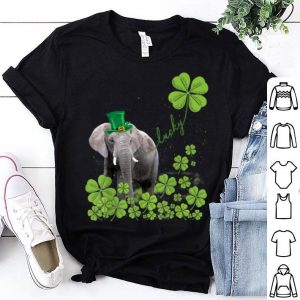 Awesome Lucky Elephant Shamrock St Patrick's Day shirt