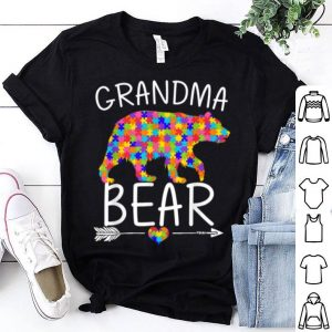Awesome Mama Bear Autism Awareness Love Support Grandma shirt
