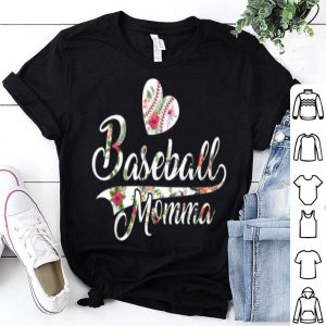 Awesome Mom Baseball Floral Design Mothers Day Gift For Women shirt