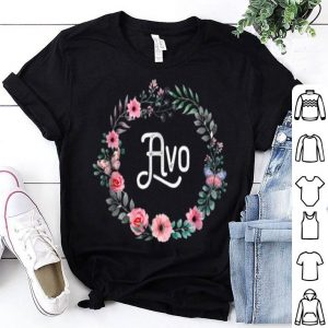 Awesome Mother's Day Gift For Portuguese Grandma Floral Avo shirt