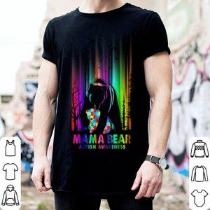 Awesome Pola Bear Mama Bear Autism Awareness Mother Mama Kids Gifts shirt