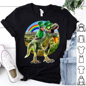 Awesome St. Patricks Day T Rex Dinosaur Leprechaun Cat Gift shirt