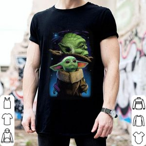 Baby Yoda And Master Yoda Galaxy Star Wars shirt