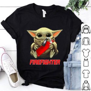 Baby Yoda Hug Firefighter shirt