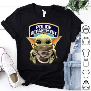 Baby Yoda hug Police Department shirt
