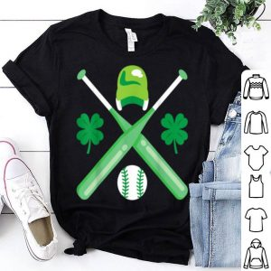 Beautiful Baseball Player Funny Cool St Patricks Day 2020 Boy Green shirt