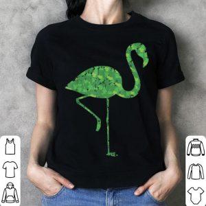 Beautiful Cute Flamingo Shamrocks St Patricks Day Animal Lover shirt