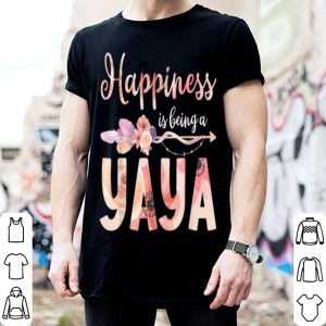 Beautiful Happiness Is Being A Yaya Floral Mother's Day Grandma Gift shirt