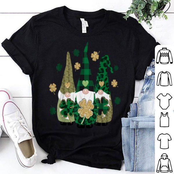 Beautiful Irish Gnome St Patricks Day Shamrock Lucky Leprechauns shirt