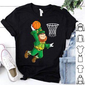 Beautiful Leprechaun Basketball Dunk St Patricks Day Boys Men Sports shirt
