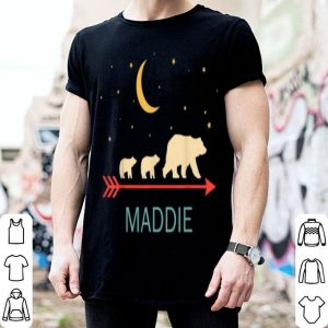 Beautiful Maddie Name Gift Personalized Mama Bear With 2 Cubs shirt
