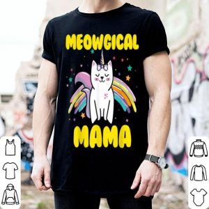 Beautiful Meowgical Mama Magical Kitty Cat Unicorn shirt