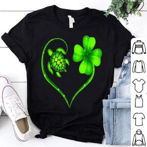 Beautiful St. Patrick Day Irish Heart Turtle And Shamrock Lucky shirt