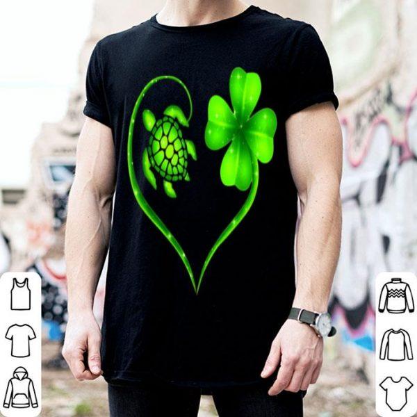 Beautiful St. Patrick Day Irish Heart Turtle And Shamrock Lucky shirt