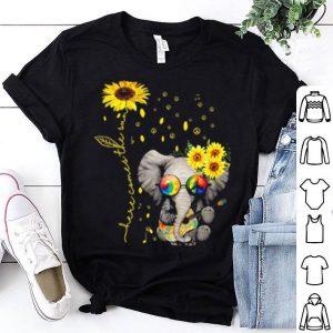 Elephant Autism awareness here comes the sun sunflowers shirt