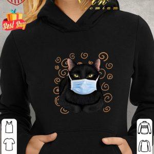 Nice Black cat face mask shirt 1