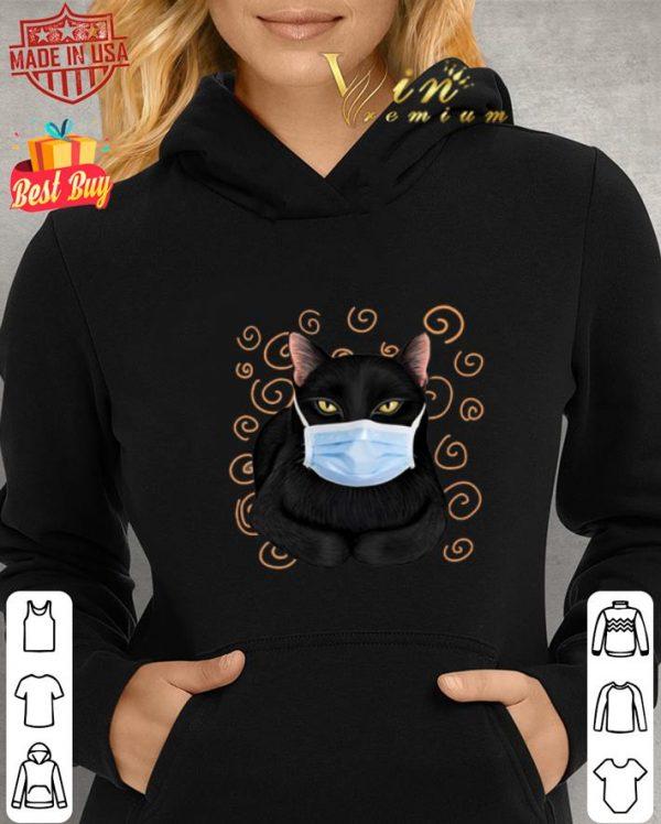 Nice Black cat face mask shirt