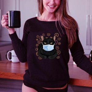 Nice Black cat face mask shirt 2