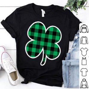 Nice St Patricks Day Green Plaid Shamrock Irish Clover Cute shirt