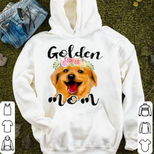Nice Womens Red Golden-retriever Mom Mama Funny Cute Mother Gifts shirt