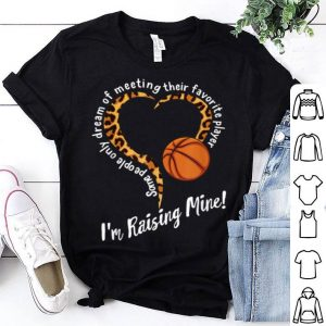 Official Basketball Mom Mothers Day Raising Favorite Player Leopard shirt