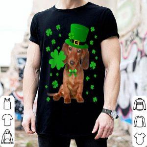 Official Dachshund Shamrock Leprechaun St Patrick's Day Irish Dog shirt