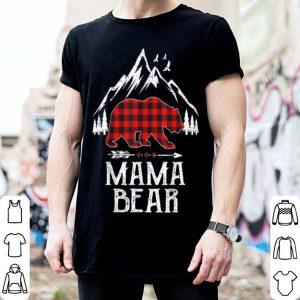 Official Mama Bear Christmas Pajama Red Plaid Buffalo Family Gift shirt