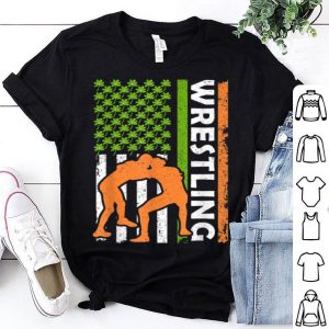 Official Vintage Irish Wrestling American Flag St Patrick's Day Gifts shirt