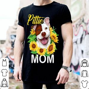 Official Womens Pitbull Pittie Mom Sunflower Mothers Day Gift shirt