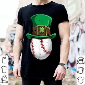 Original Baseball St Patricks Day Boys Men Ball Leprechaun Catcher shirt