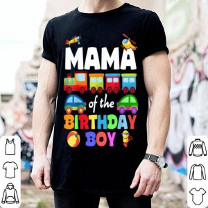 Original Mama Of Birthday Boy Trains Matching Family Bday Party shirt