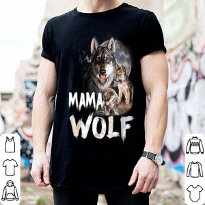 Original Mama Wolf Matching Family Tribe Wolves Moon Mom Mother shirt
