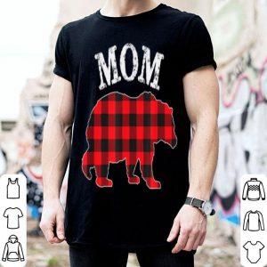 Original Mom Bear Red Black Buffalo Plaid Mama Checkerboard Pattern shirt