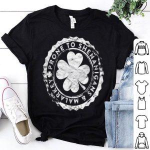 Original Prone To Shenanigans And Malarkey Stamp Gift St Patricks Day shirt