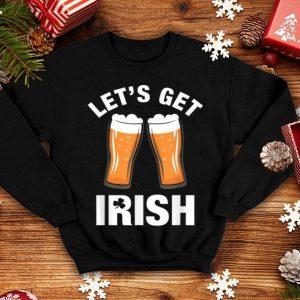 Premium Let's Get Irish - St Patrick's Day Drinking Beer Shamrock shirt