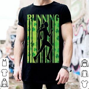 Pretty Lucky Running Shamrock Saint Patrick's Day Irish Gifts shirt
