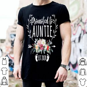 Pretty Promoted To Auntie Est 2020 Mother's Day New Mama shirt