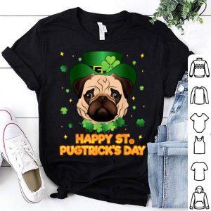 Top Happy St Patricks Pugtricks Day Irish Pug Leprechaun shirt