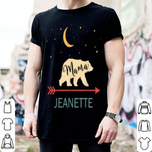 Top Jeanette Name Gift Personalized Retro Mama Bear shirt
