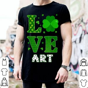 Top Love Shamrock Art St Patricks Day Teacher shirt