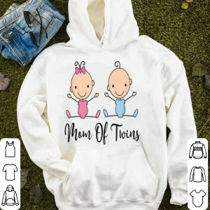 Top Mom Of Twins Mothers Day Boy Girl Mother Tee shirt